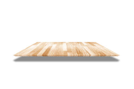 Wooden flooring isolated on the white background.