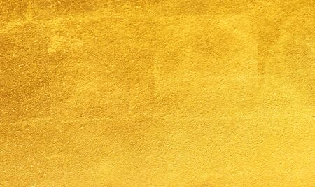sheet metal: Shiny yellow leaf gold foil texture background