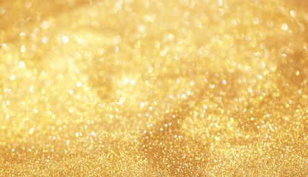 Bokeh background golden abstract light, beautiful colors.