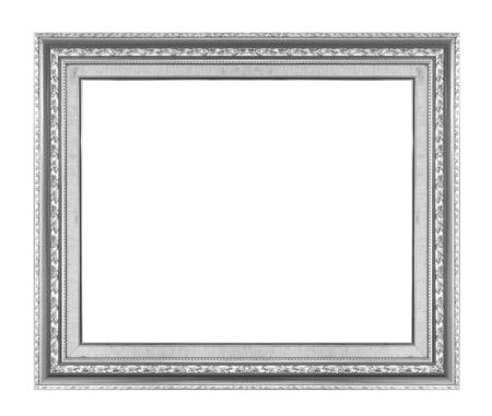 #81966923   Black Wood Frame Isolated On White Background