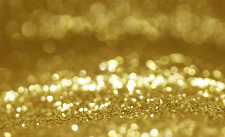 glitter vintage lights background gold silver blue Stock Photo