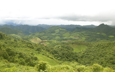 expanse: Mountain expanses Lush, rainy season Mae Hong Son Thailand
