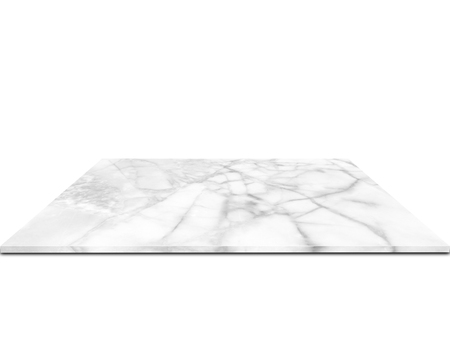 White marble counter Isolated on white background Stock Photo