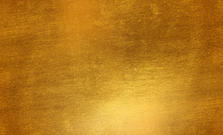 Shiny yellow leaf gold metal texture background
