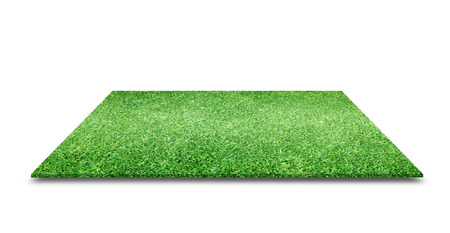 green grass texture Isolated on white background