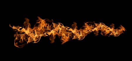 Fire flames on a black background abstract. 免版税图像