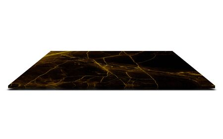 Black marble counter Isolated on white background Reklamní fotografie