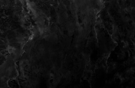Black marble texture background pattern with high resolution. Banco de Imagens
