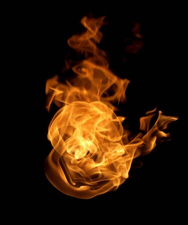 Red flame heat energy texture black background