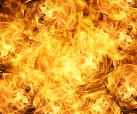 Flame fire texture background  Red flame heat