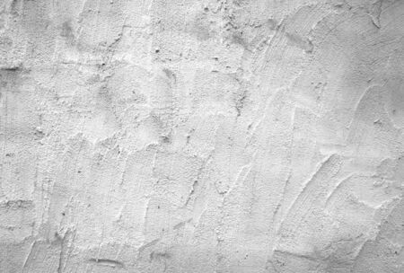 Partly plastered walls with high detail white uneven surfaces