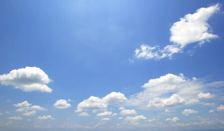 Air clouds in the blue sky background 写真素材