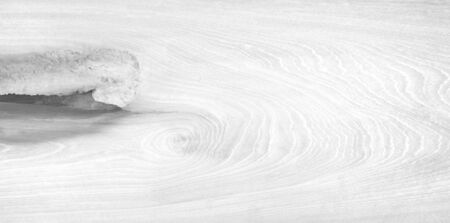 Old wood painted white texture for background Banco de Imagens