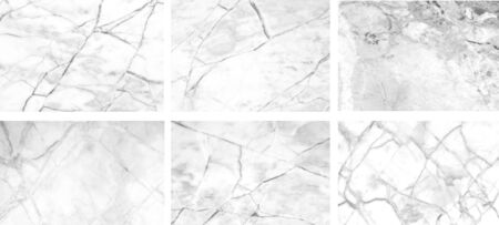 White marble separates six images with large high detail, can be used in the background graphic design Фото со стока