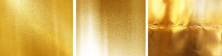 Gold color sheet metal separating three pictures with high detail, big size Can be used to design background graphics Stock fotó