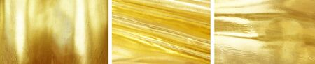 Gold color sheet metal separating three pictures with high detail  big size Can be used for graphic design