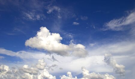 Blue sky white clouds nature background