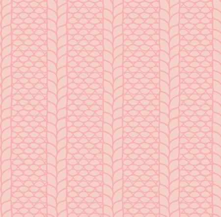 Hand getekend patroon van een gebreide ribbelsteek met kabels.