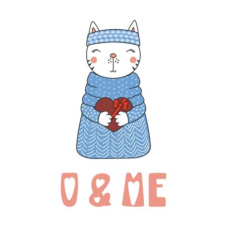 Cue kitten in a sweater icon. Illusztráció