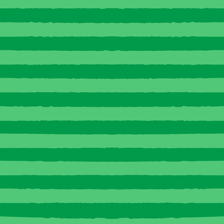 Hand drawn seamless vector pattern with dark and light green stripes. Design concept for Saint Patricks day celebration, kids textile print, wallpaper, wrapping paper.