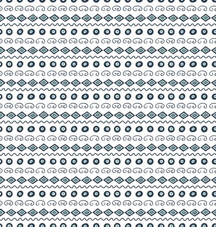 Hand drawn seamless vector pattern with geometric elements, on a white background.