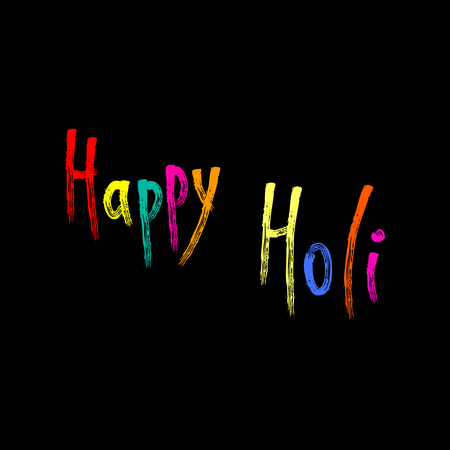 Colorful handwritten Happy Holi greeting