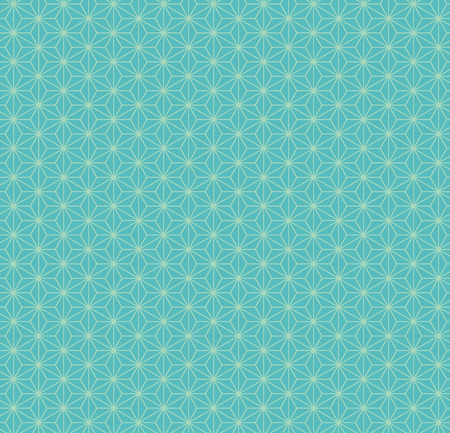 Traditional eastern seamless geometric pattern, in turquoise. Vector illustration. Flat style design. Concept for decorative element, textile print, wallpaper, wrapping paper.