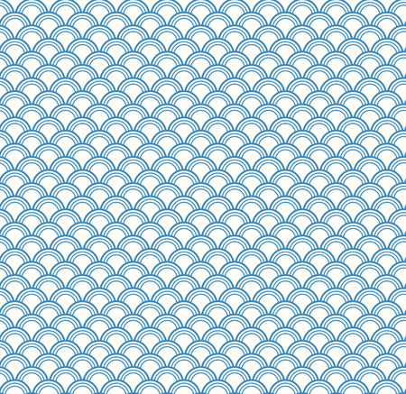 Traditional eastern seamless geometric pattern, blue on white. Vector illustration. Flat style design. Concept for decorative element, textile print, wallpaper, wrapping paper.
