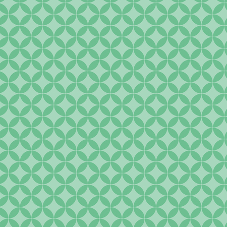 Traditional eastern seamless geometric pattern, in green. Vector illustration. Flat style design. Concept for decorative element, textile print, wallpaper, wrapping paper.