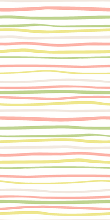 Hand drawn seamless geometric pattern with stripes, in pink, green, yellow, gray, on white background. Vector illustration. Flat style design. Concept for kids textile print, wallpaper, wrapping paper Stock Vector - 117371706
