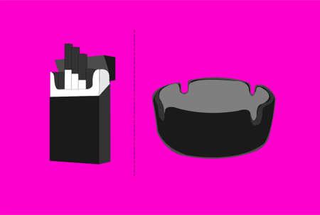 ash: ash tray and sugarette