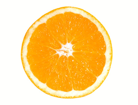 Half of orange on a white backgrount isolated. Stock Photo - 1367258