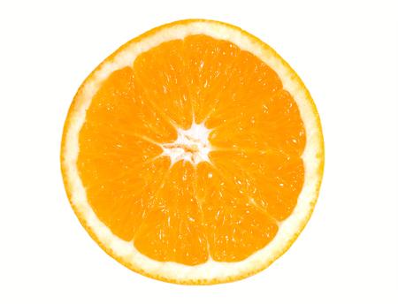 La moiti� d'orange sur fond blanc backgrount isol�s.  Banque d'images