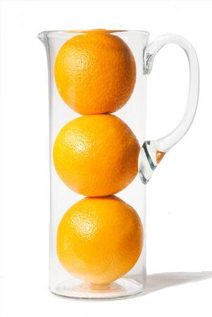 Oranges isol� sur blanc