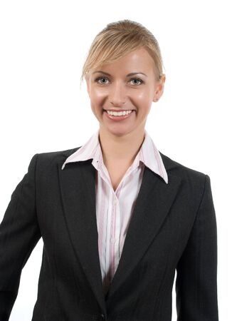 Portrait of women in business suit and white shirt on a white background Stock Photo - 2897041