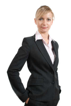 Portrait of women in business suit and white shirt on a white background Stock Photo - 2897009