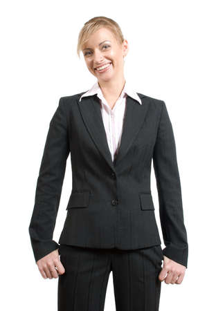 Portrait of women in business suit and white shirt on a white background Stock Photo - 2896999
