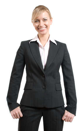Portrait of women in business suit and white shirt on a white background Stock Photo - 2897037