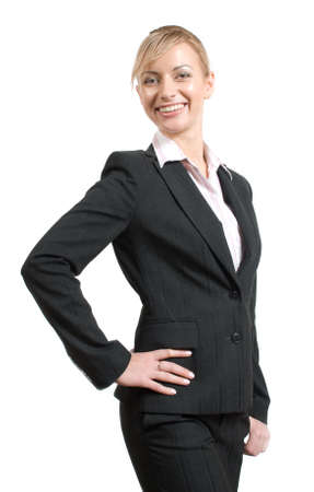 Portrait of women in business suit and white shirt on a white background Stock Photo - 2897002