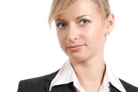 Portrait of women in business suit and white shirt on a white background Stock Photo - 2897008