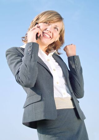 Portrait of successful business lady in grey suit Stock Photo - 3468029