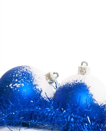 bluer: Bluer christmas balls isolated on a white background.