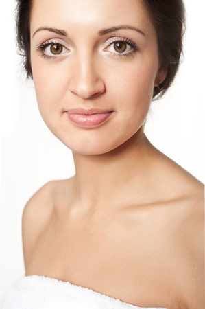 Closeup of a young beautiful woman Stock Photo - 13040518