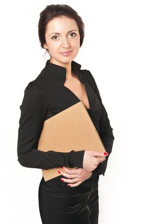 25 to 30: Portrait of young business woman in black dress
