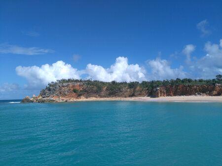 island Tintamarre seen from a catamaran
