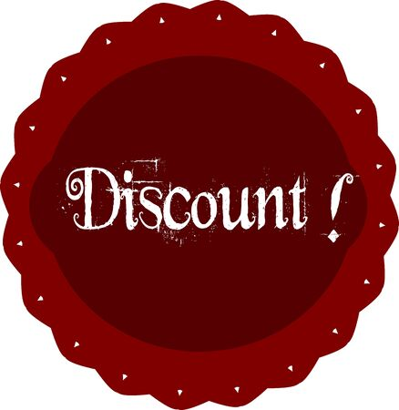 advertisment: Discount advertisment red button. Vector illustration.