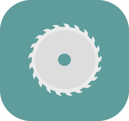 circular saw: Machinery icon. Circular saw blade - vector illustration.