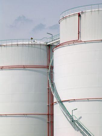 l petrol: Dep�sito de aceite  Foto de archivo