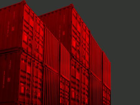 Container bearbeitet, freigestellt gef�rbt photo