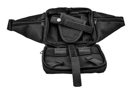 City tactical bag for concealed carrying weapons without a gun inside Stock Photo